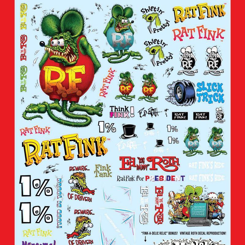 1/25 Rat Fink Decal Pack