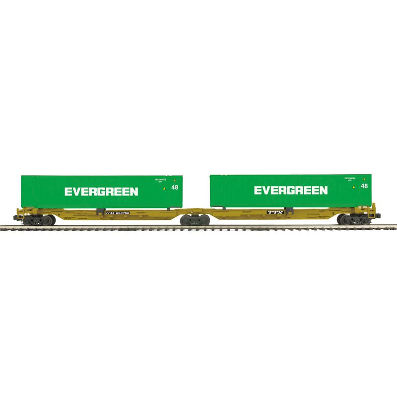 O Spine Car w 2 48' Containers TTX #653268 (2)