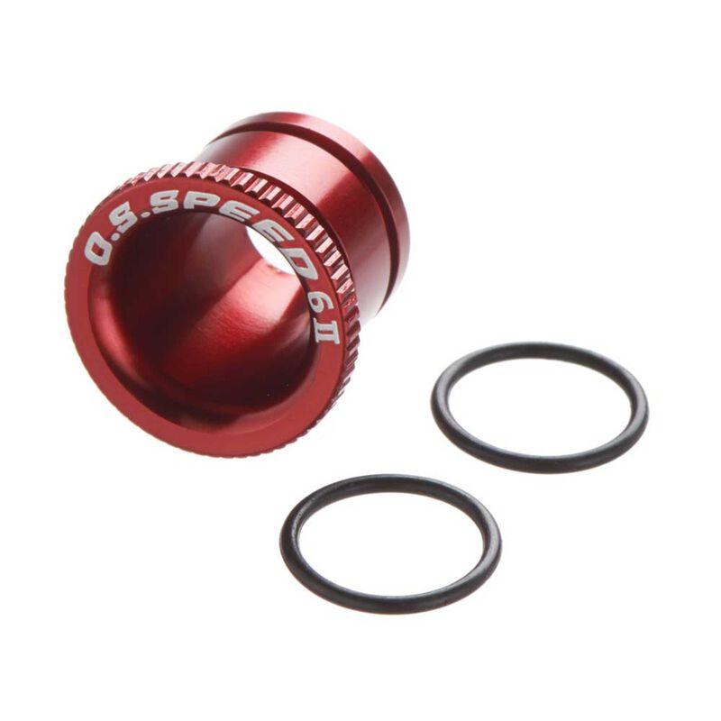 Carburetor Reducer 6mm, Red: B2101 Speed