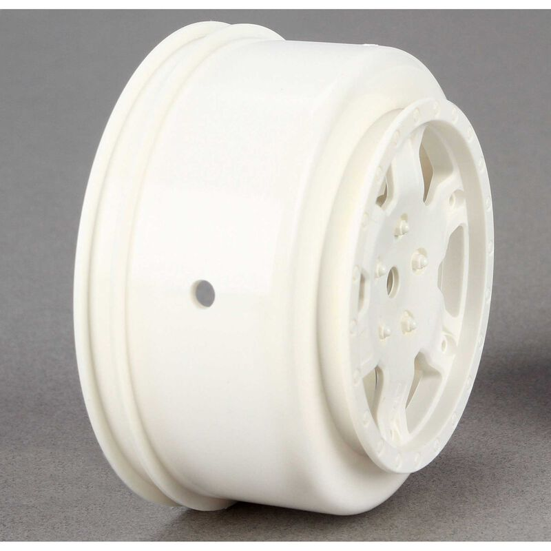 1/10 Front/Rear SCT 2.2/3.0 Wheels, 12mm Hex, White (2): 22 SCT