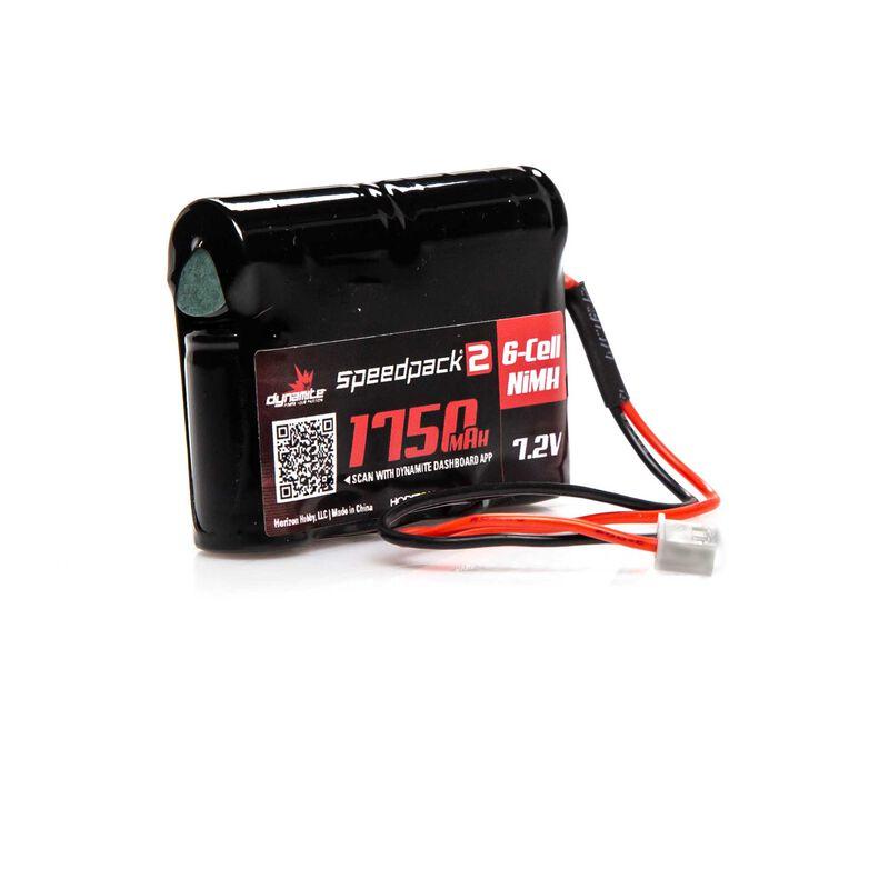 7.2V 1750mAh 6-Cell Speedpack2 Mini-T NiMH Battery: XH-1S (Losi Mini Plug)