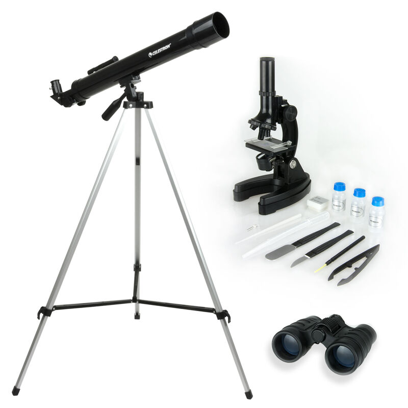 Telescope Microscope & Binocular Science Kit