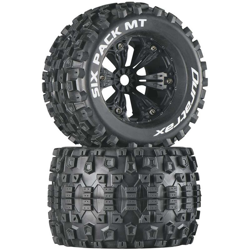 "Six-Pack MT 3.8"" Mounted 1/2"" Offset Tires, Black(2)"