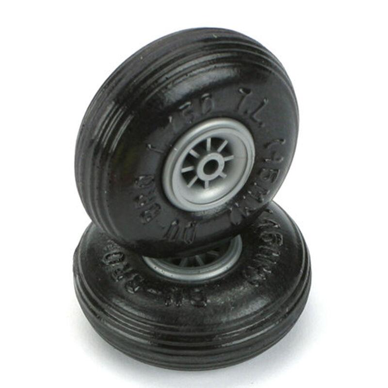 """Treaded Lite Wheels, 1-3/4"""" (2)"""