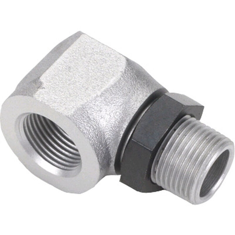 Muffler, Right Angle Adapter with Nut: AG, AH