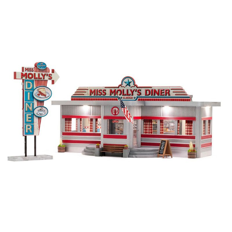 O Scale, Miss Molly's Diner, Built & Ready