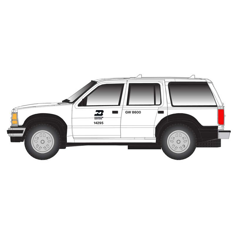 N Ford Explorer Burlington Northern, White/Black