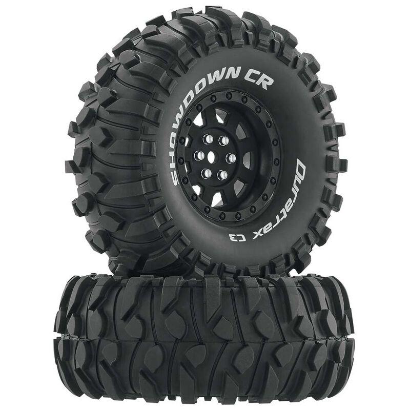 "Showdown CR C3 Mounted 1.9"" Crawler Tires, Black (2)"