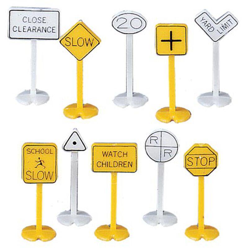 HO Railroad & Street Signs (24)