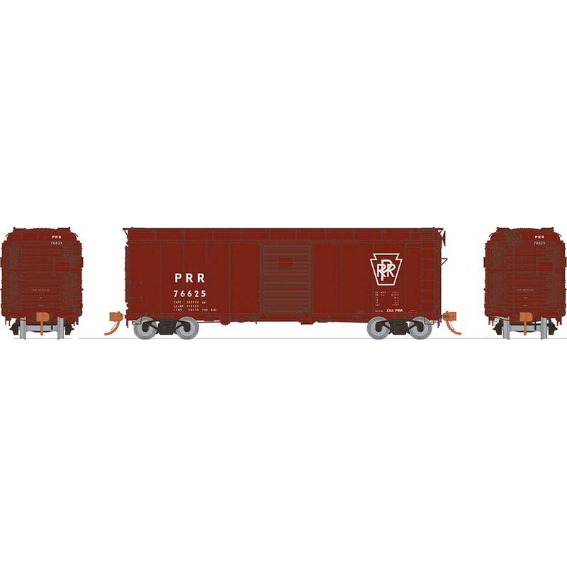 HO X31A Boxcar Single Door PRR Plain (1)