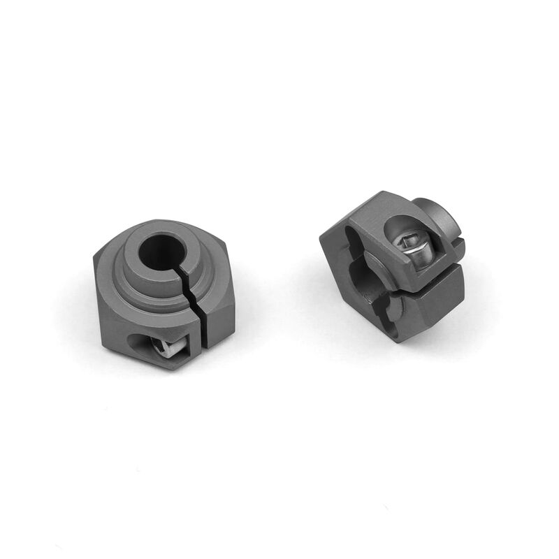 12mm Hex Grey Anodized