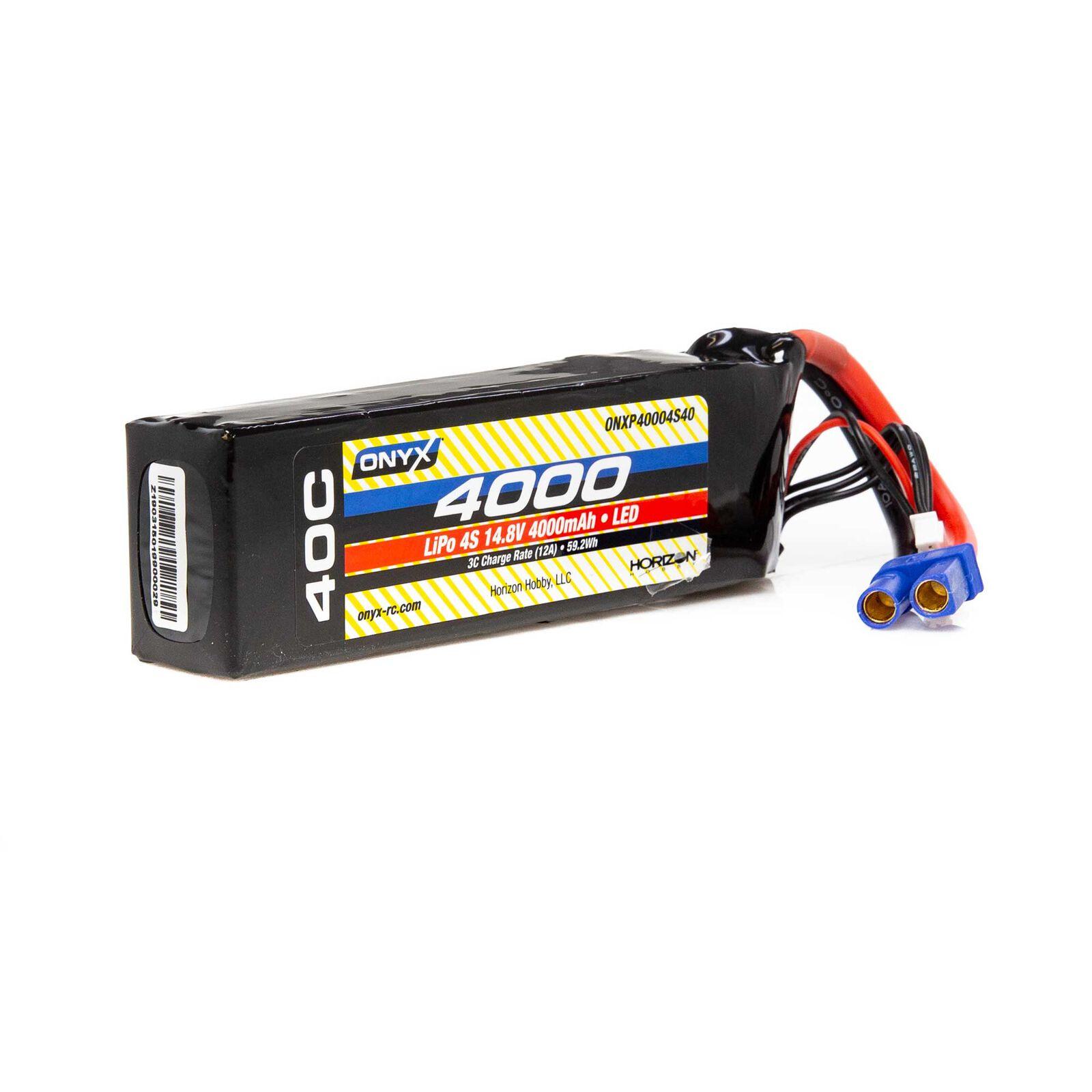 14.8V 4000mAh 4S 40C LiPo Battery: EC5