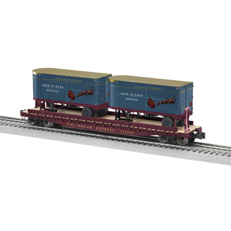 O27 Flat Polar Express 50' with 20' Trailer #122520