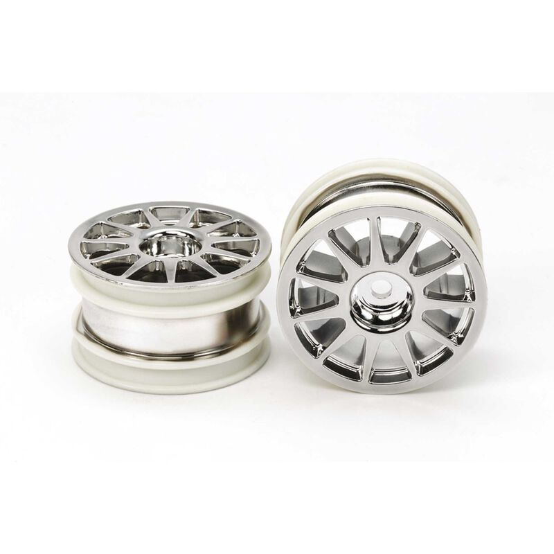1/10 M-Chassis 11-Spoke Front/Rear Wheel, Chrome Plated (2)