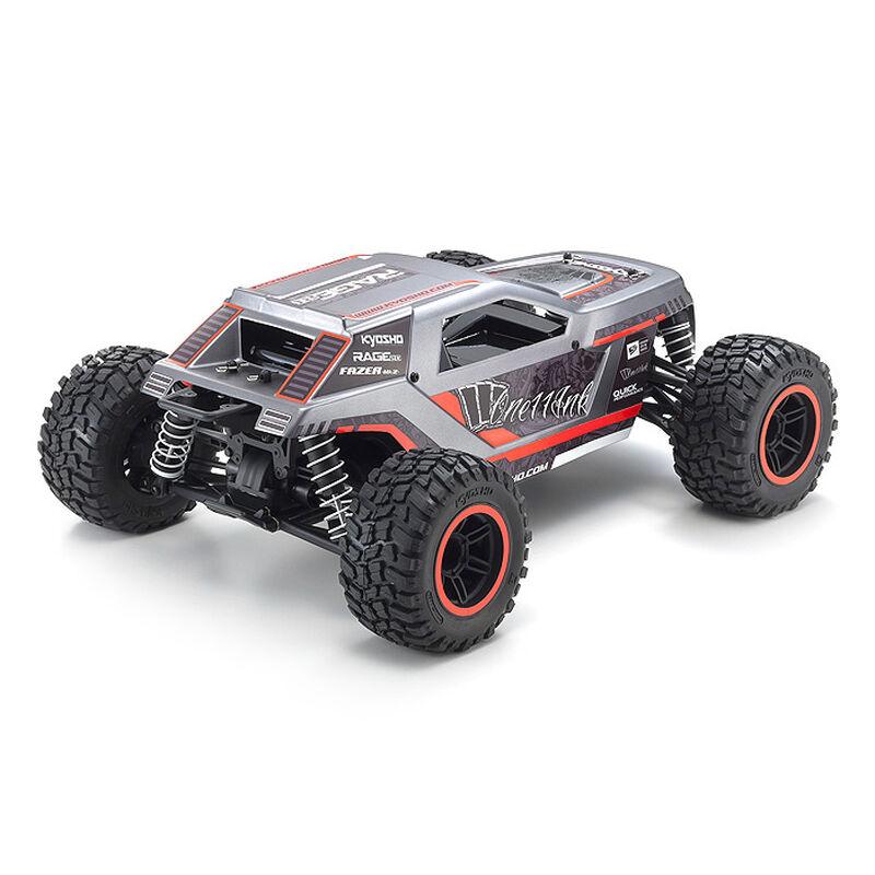 1/10 Fazer Mk2 Rage 2.0 4WD Brushed RTR, Red