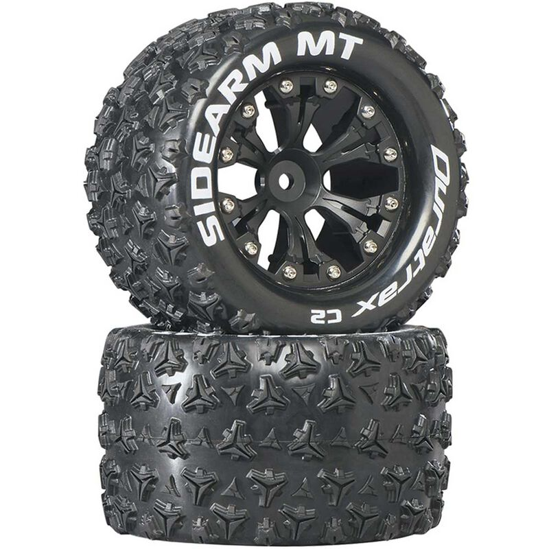 "Sidearm MT 2.8"" Mounted 1/2"" Offset C2 Tires, Black (2)"