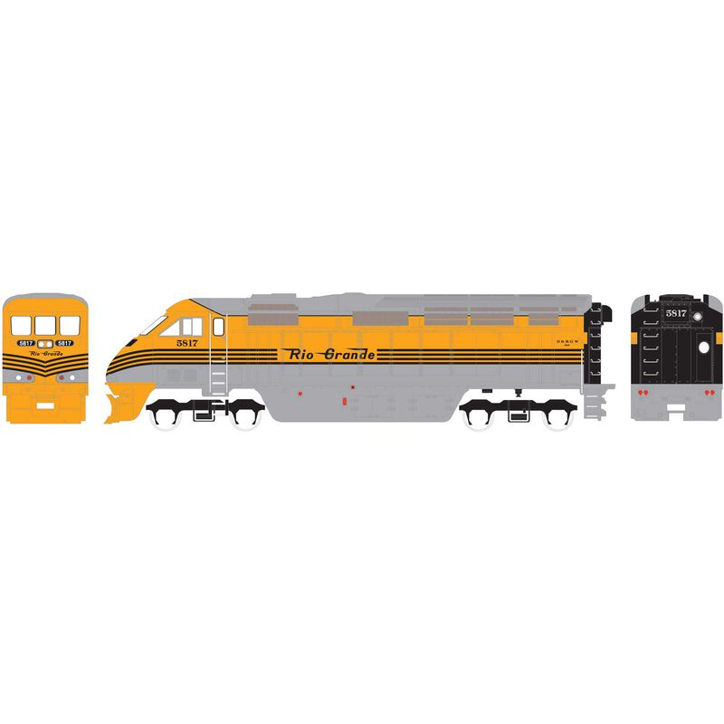HO RTR F59PHI with DCC & Sound DRGW #5817