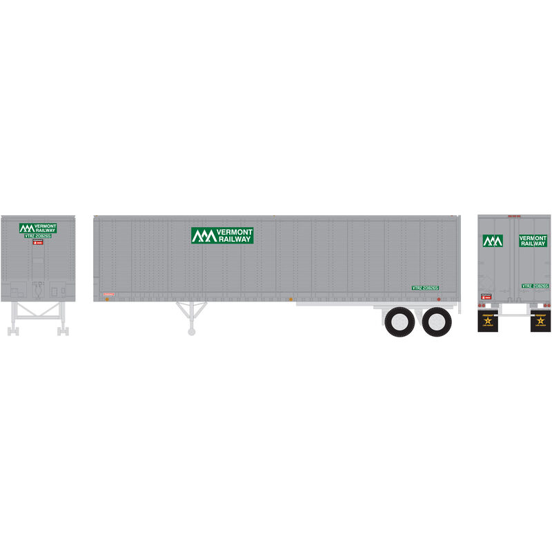 HO RTR 40' Fruehauf Z-Van Trailer VTR #208265