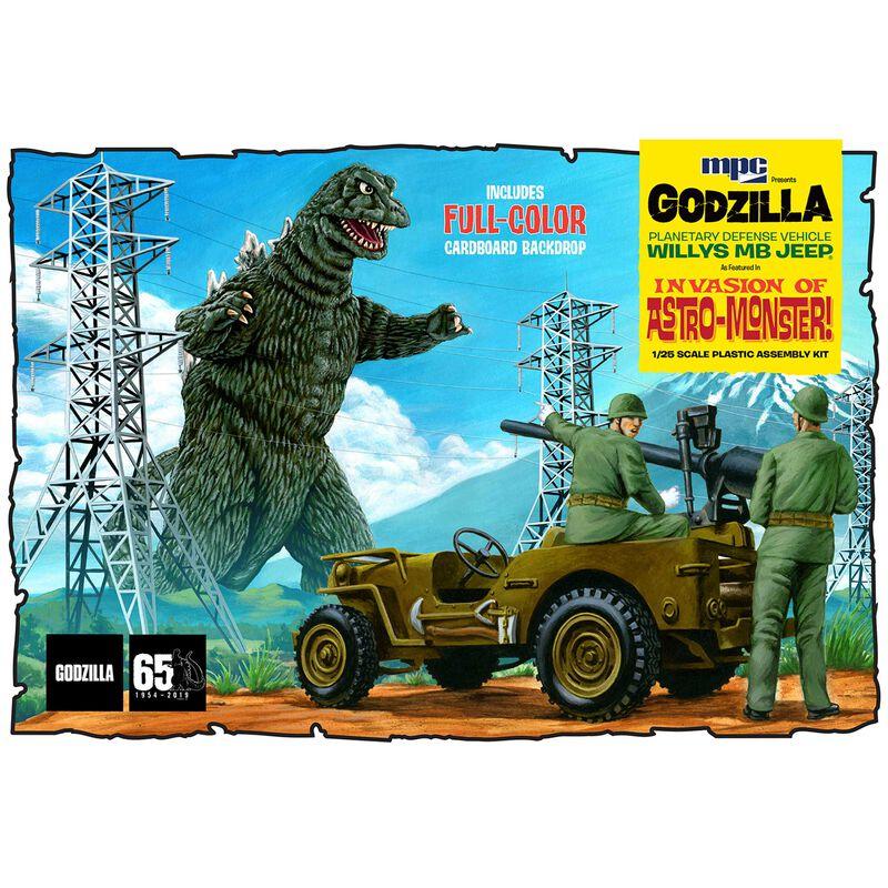 1/25 Godzilla Army Jeep