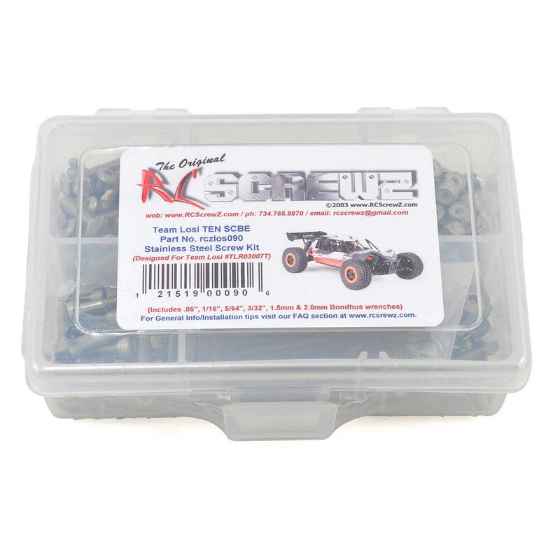 Stainless Steel Screw Set: Losi TEN-SCBE 4WD