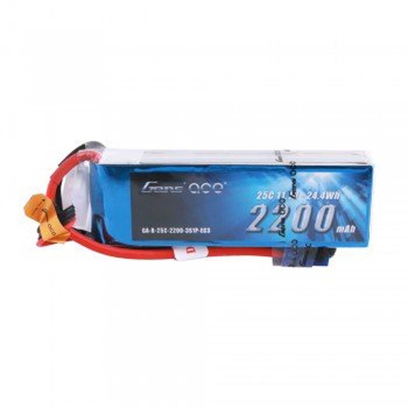 11.1V 2200mAh 3S 25C LiPo Battery, EC3