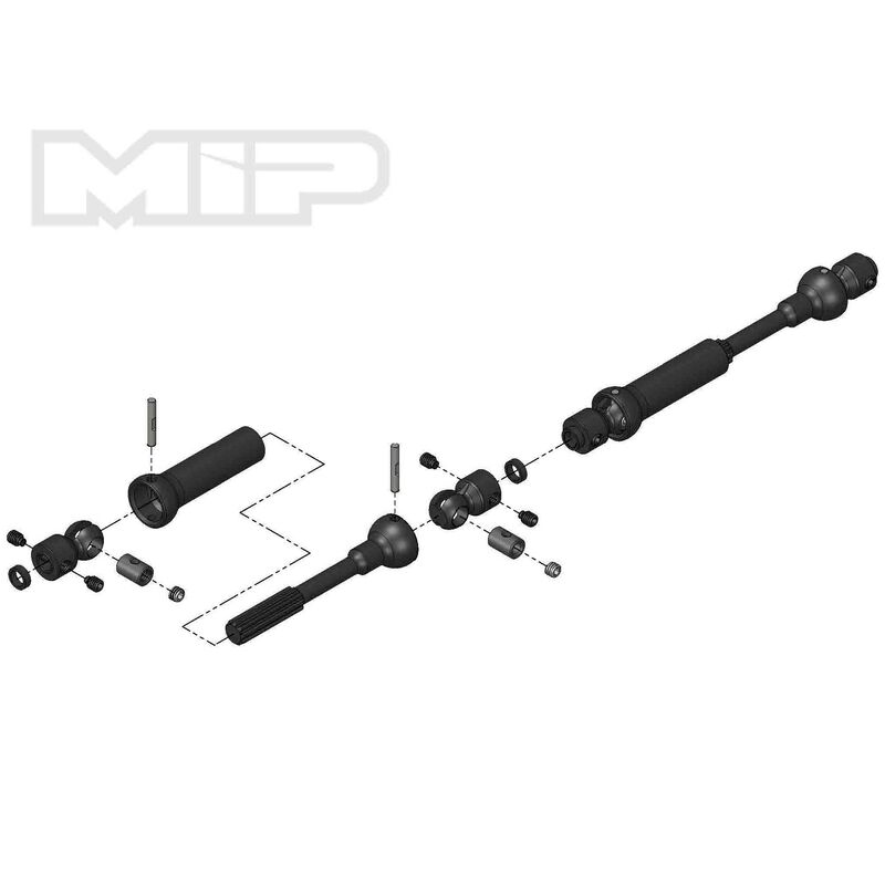 Center Drive Kit 110mm x 135mm with 5mm Hubs