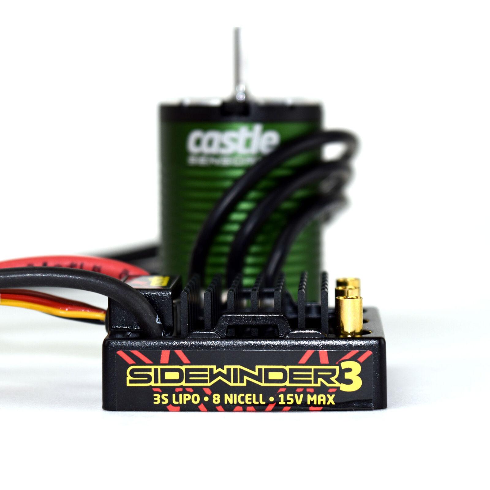 1/10 SV3 Sidewinder Waterproof ESC/1406-5700Kv Sensored Brushless Motor Combo: 4mm Bullet