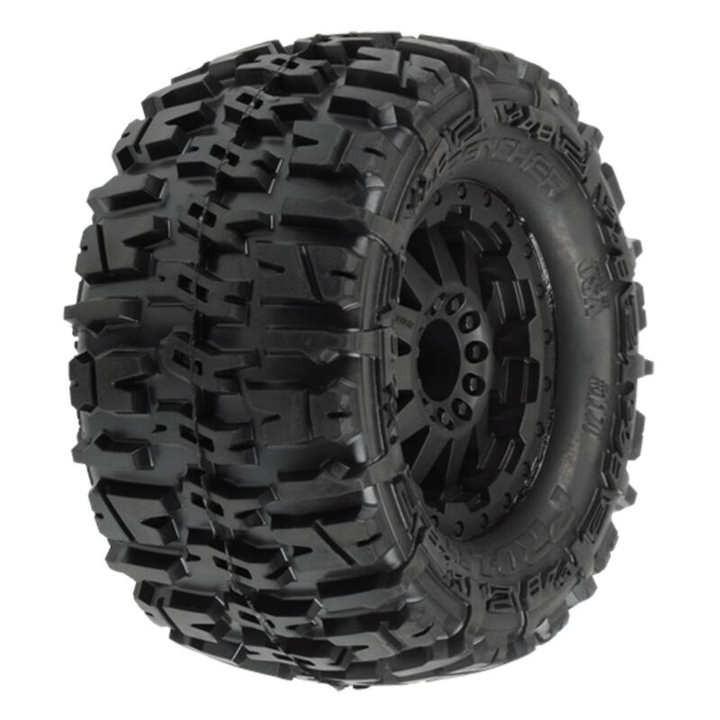 Rear Trencher 2.8 TRA Style Bead, Mounted F-11 Black Wheel: EST