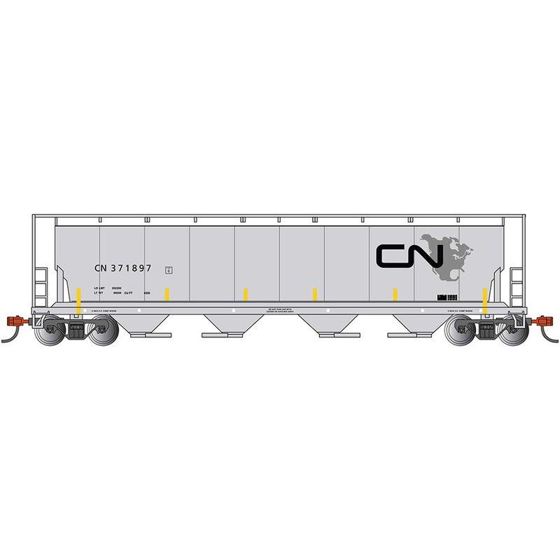 HO Cylindrical Hopper CN North American Logo