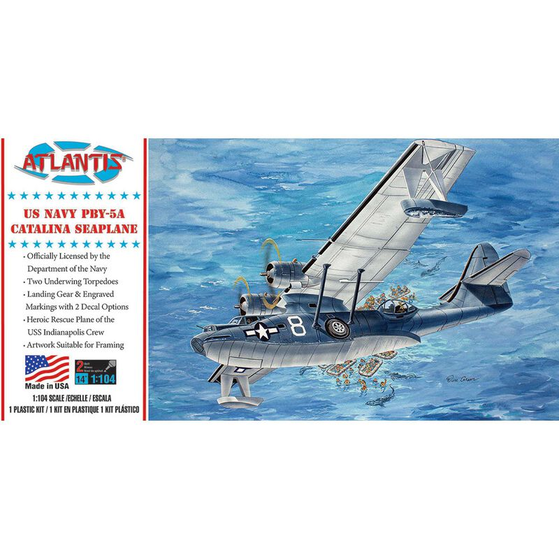 PBY-5A Catalina US Navy Seaplane Model Kit 1/104