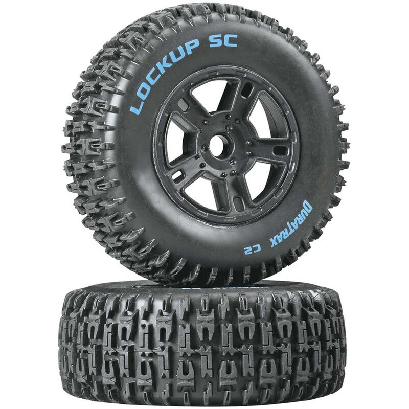Lockup SC Tire C2 Mounted Black Front: SC10 (2)