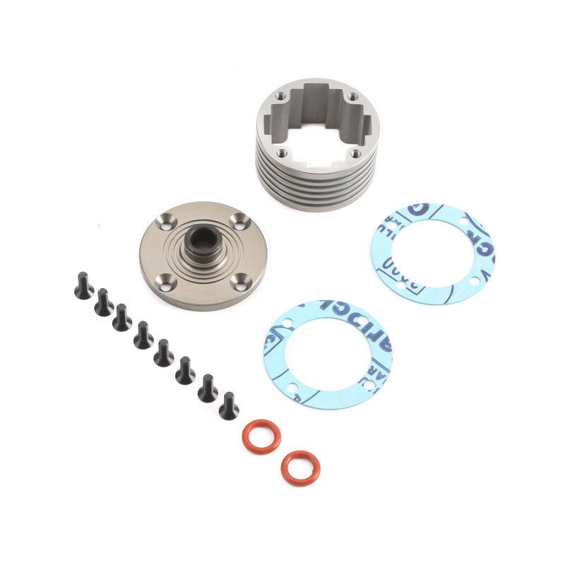 Diff Housing Set Aluminum (1): 5B, 5T, MINI WRC