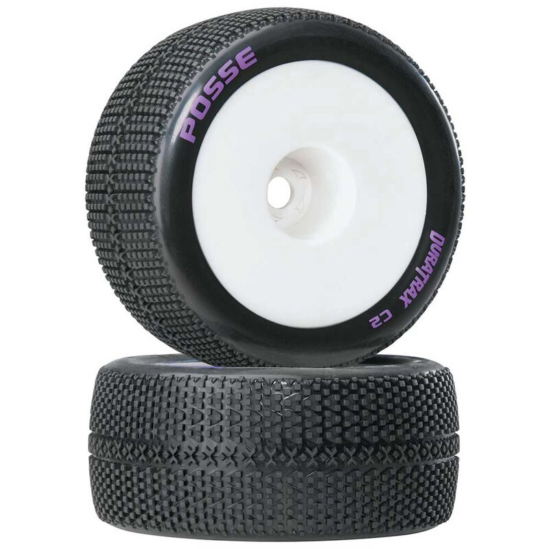 "Posse 1/8 Mounted 1/2"" Offset C2 Truggy Tires (2)"