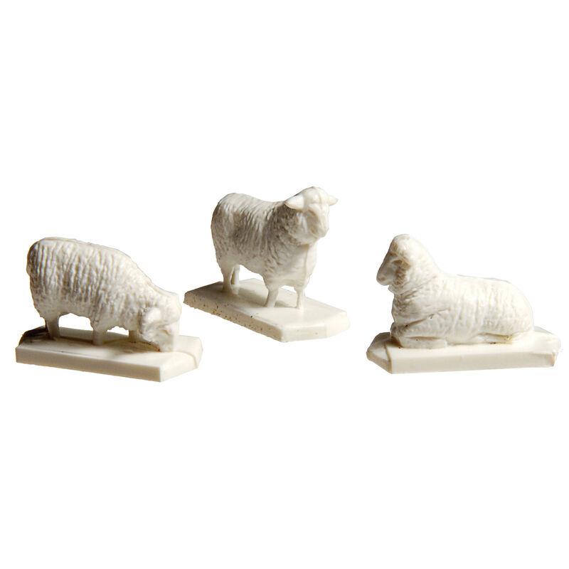 HO Sheep (12 White & 1 Black)