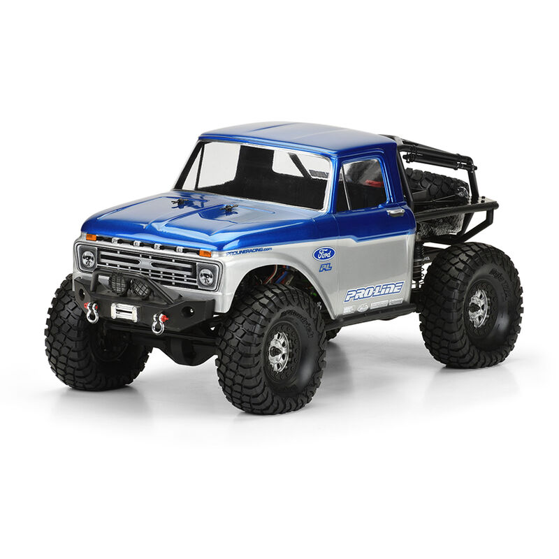 Clear Body, '66 Ford F100: 1/10 SCX10 Trail Honcho 12.3 WB