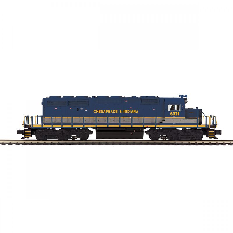 O-27 SD40-2 with PS3 Chesapeake & Indiana #6321