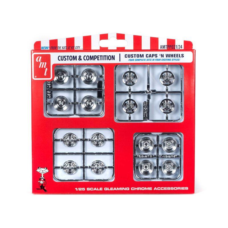1/25 Custom Caps & Wheels Parts Pack