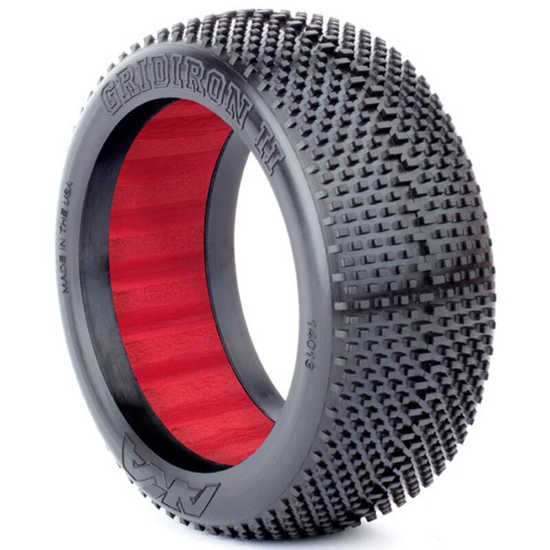 1/8 Gridiron II Soft Front/Rear Tire with Red Insert: Buggy (2)