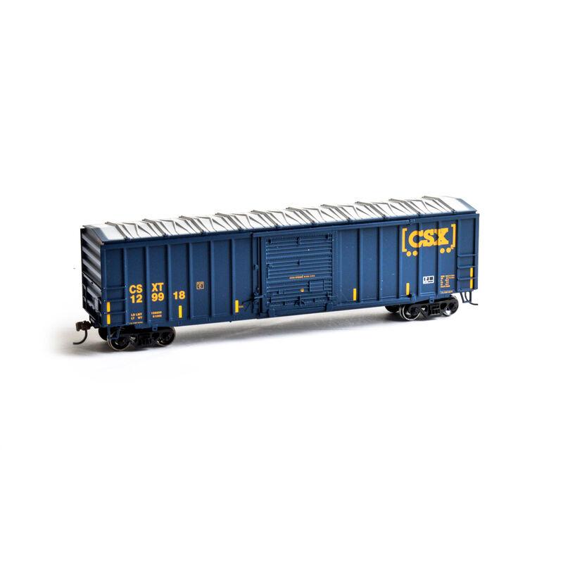 HO 50' ACF Outside Post Box CSX #129918