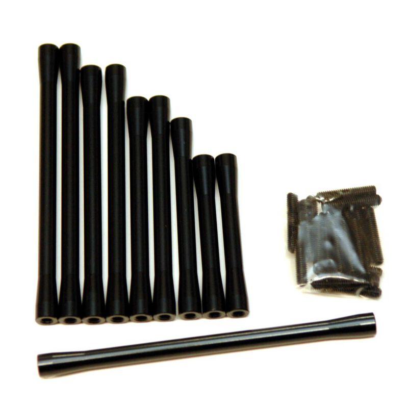 Suspension Steering Link Set Black (10pc): SCX10 II RTR