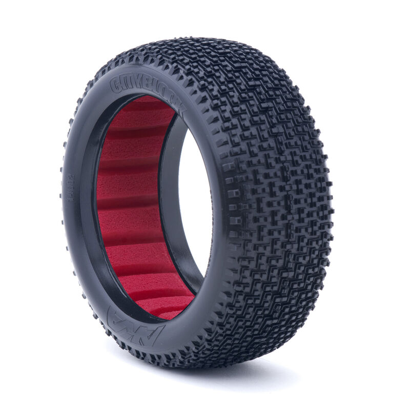 1/8 CITYBLOCK Soft Front/Rear Tire with Red Insert: Buggy (2)