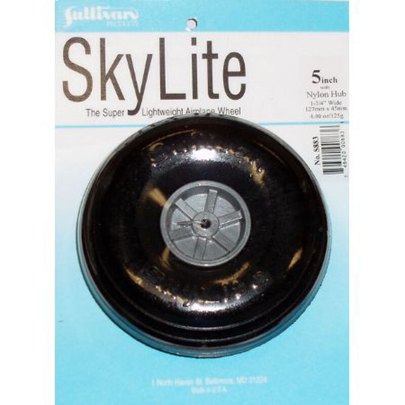 """Skylite Wheel w/Tread 5"""" (1 wheel and tire included)"""