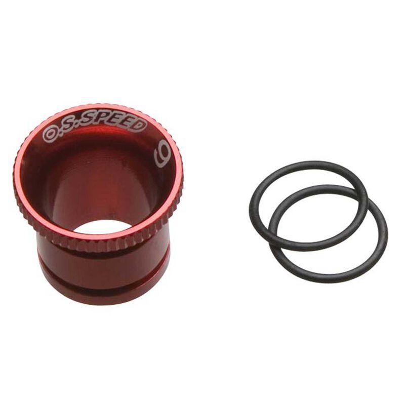 Carburetor Reducer 9mm, Red: Speed 21 V-Spec