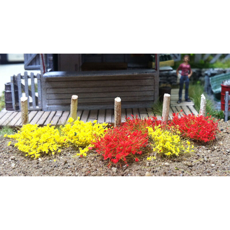 6mm Grass Tufts Yellow & Red (100)