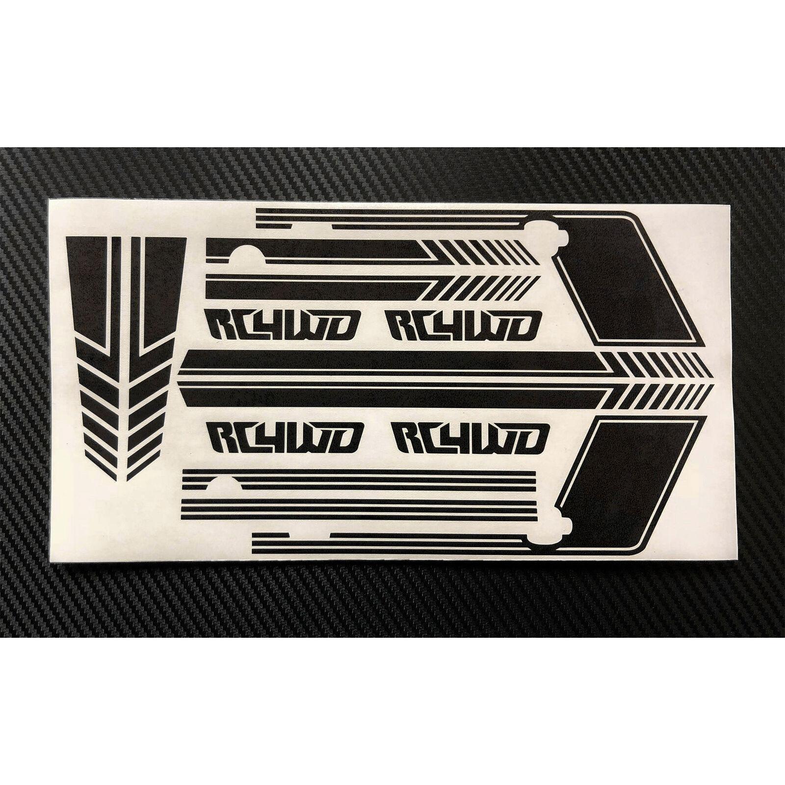 Clean Stripes Decal Sheet, Black: D110