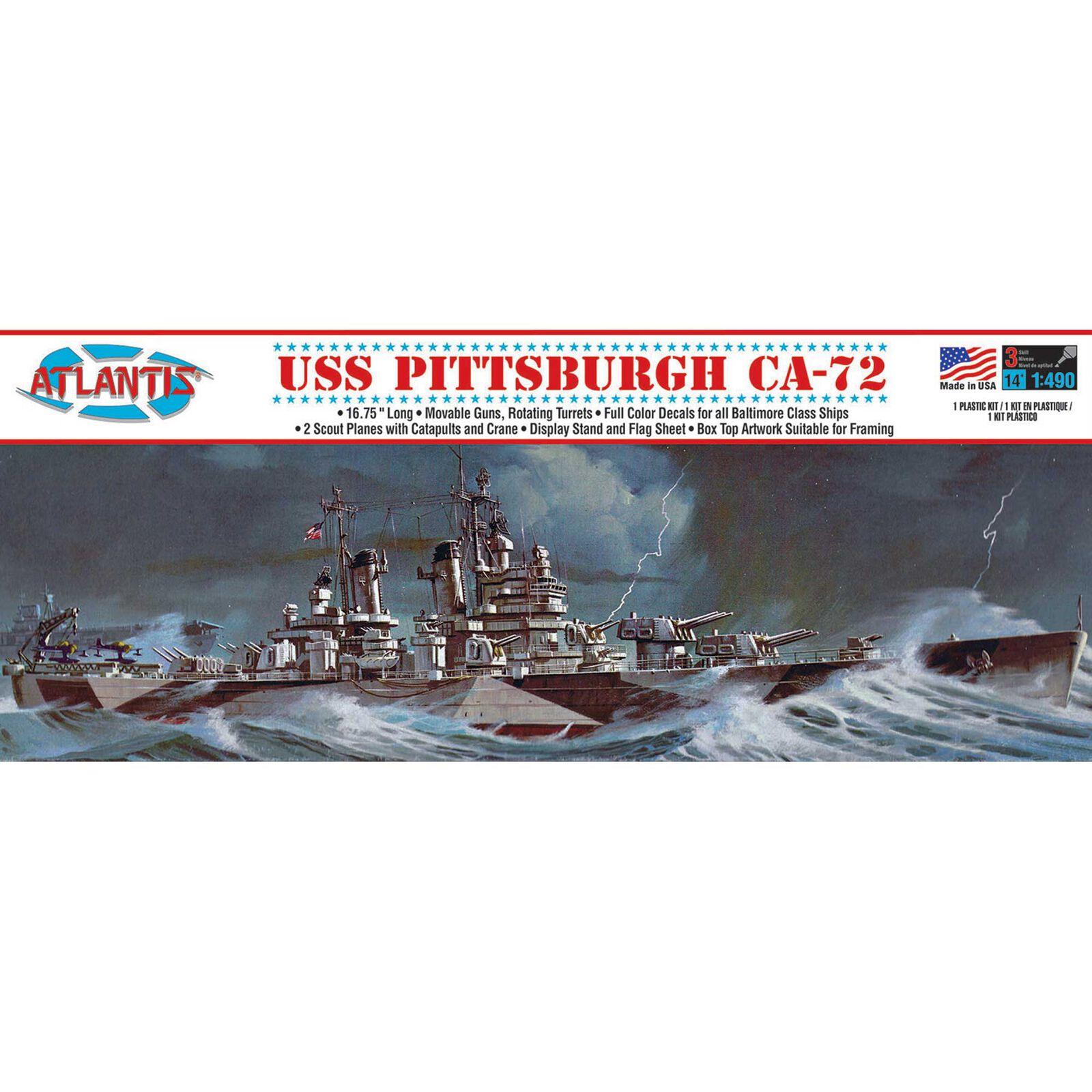 USS Pittsburgh CA-72 Heavy 1/490 Cruiser Model