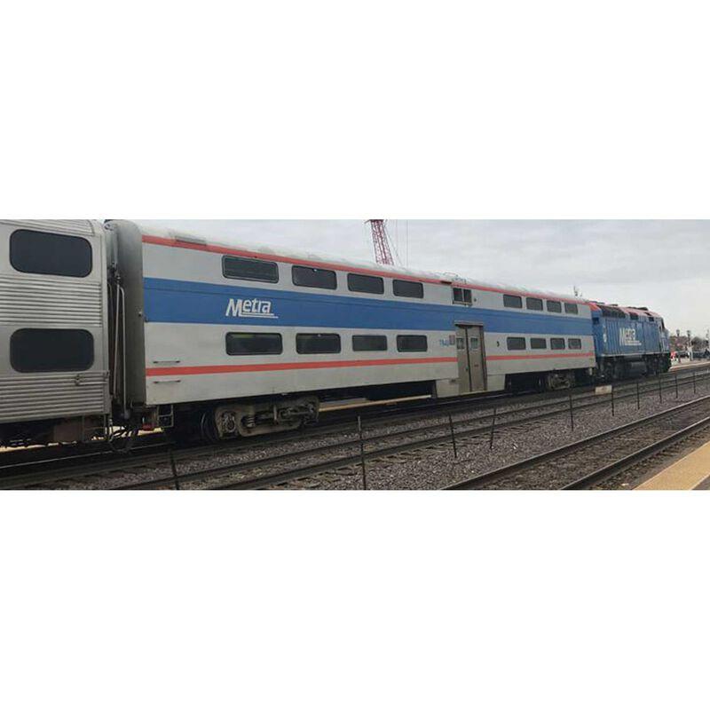 N Pullman Bi-Level 4 Window Coach Metra #7848