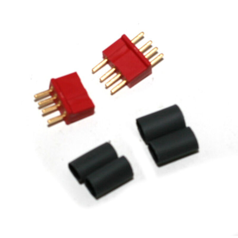 Connector: Micro 4R 4 Pin, Red