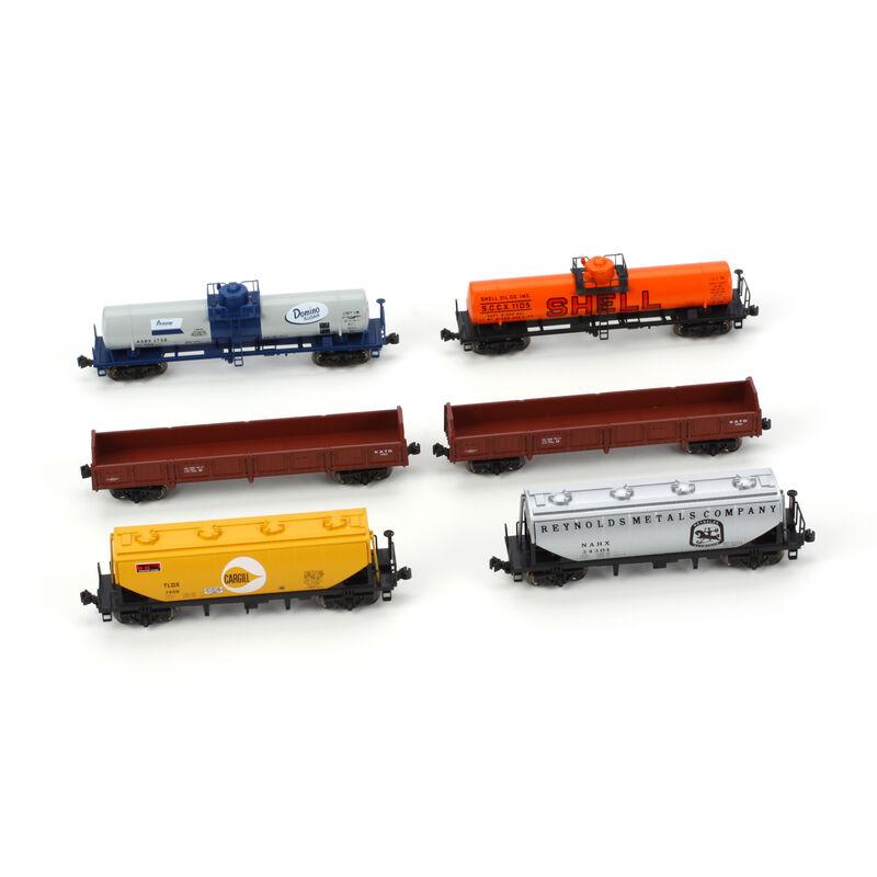 N Mixed Freight Car Set (6)
