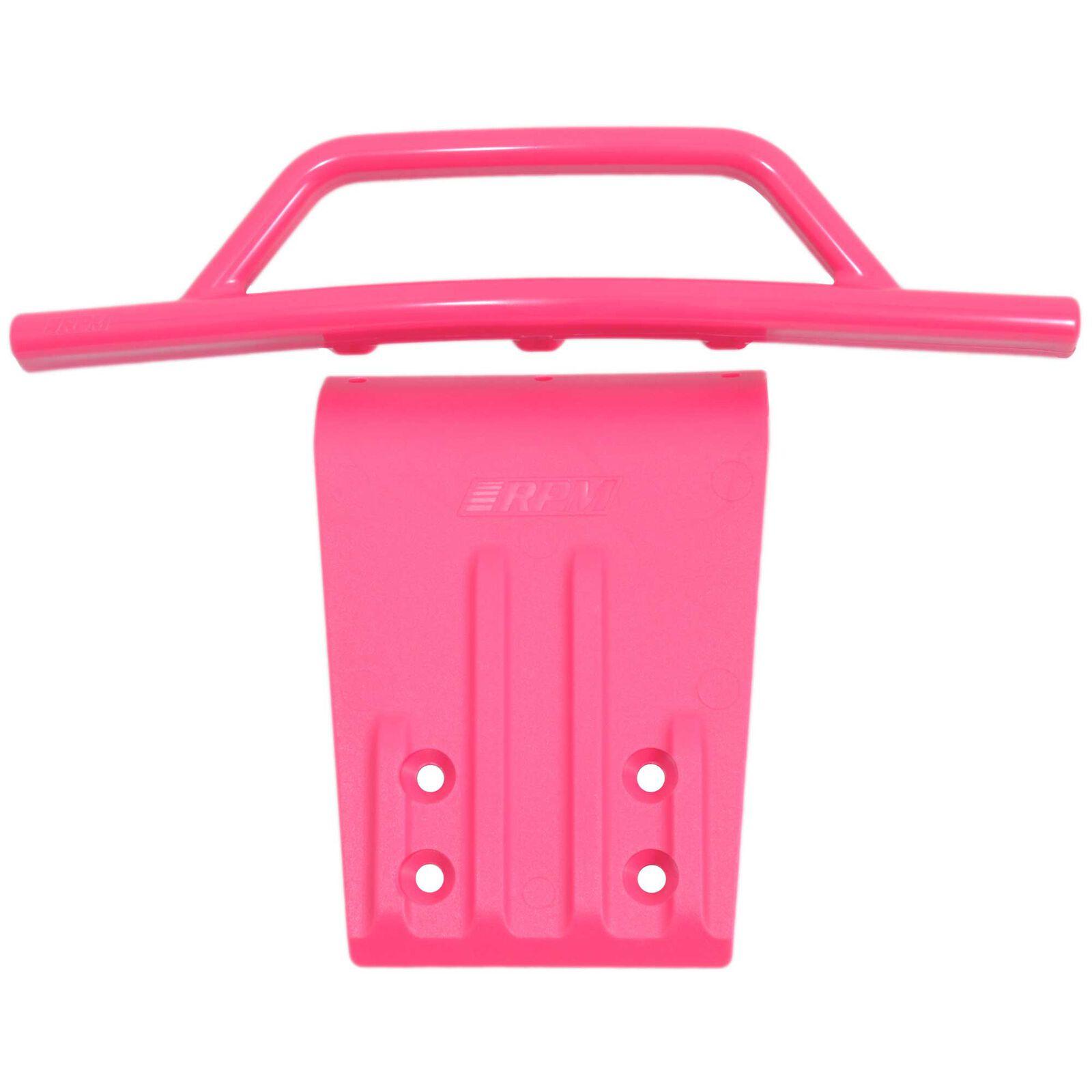 Front Bumper & Skid Plate: Pink Slash 2WD N SLH